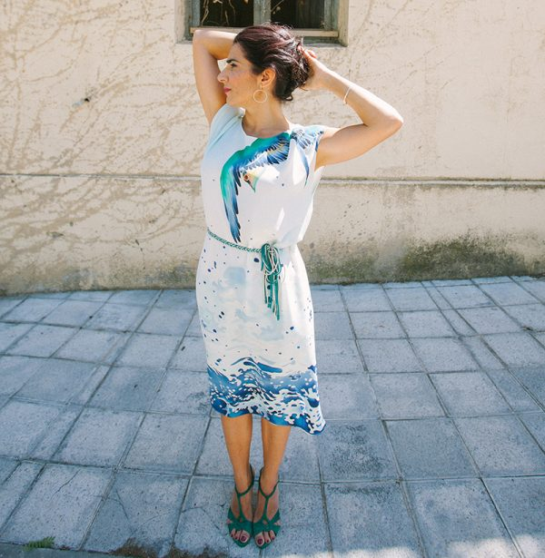 genoveva hita- creadora textil - kaftan - agua
