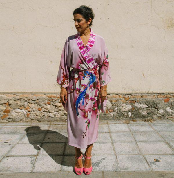 genoveva hita- creadora textil - silk kimono - aire