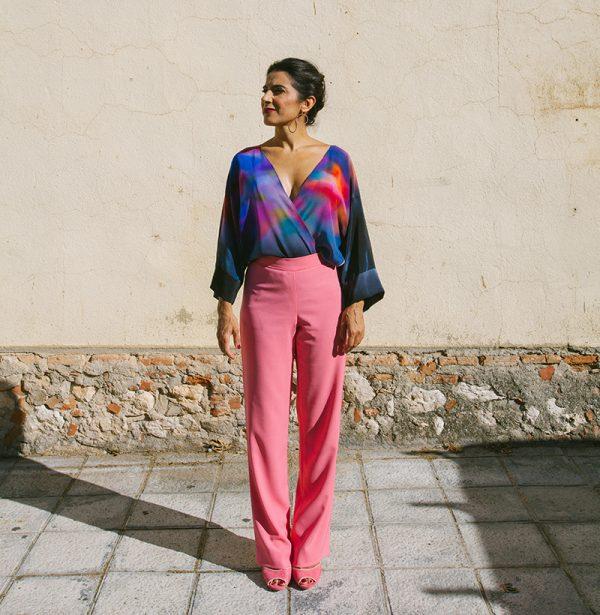 genoveva hita- creadora textil - silk kimono - atardecer