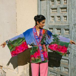 FUEGO // Silk Kimono