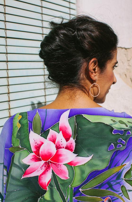 genoveva hita- creadora textil - silk kimono - nenufar (1)