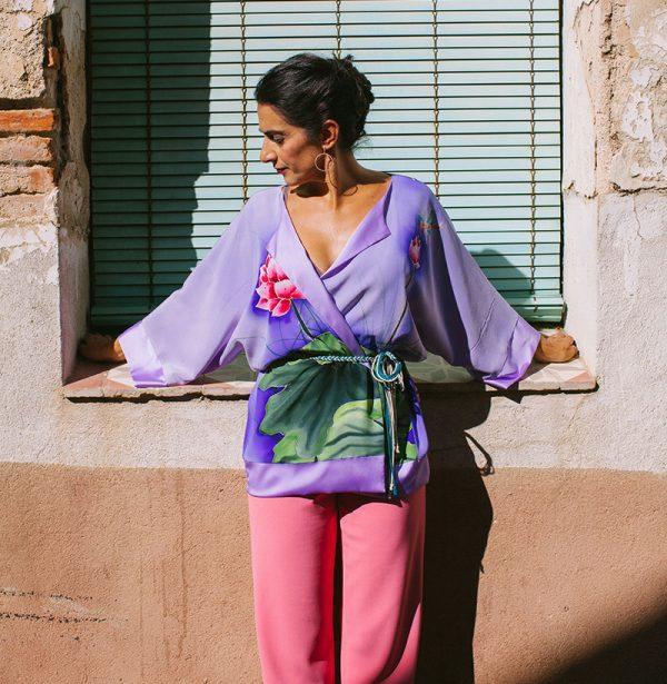 genoveva hita- creadora textil - silk kimono - nenufar