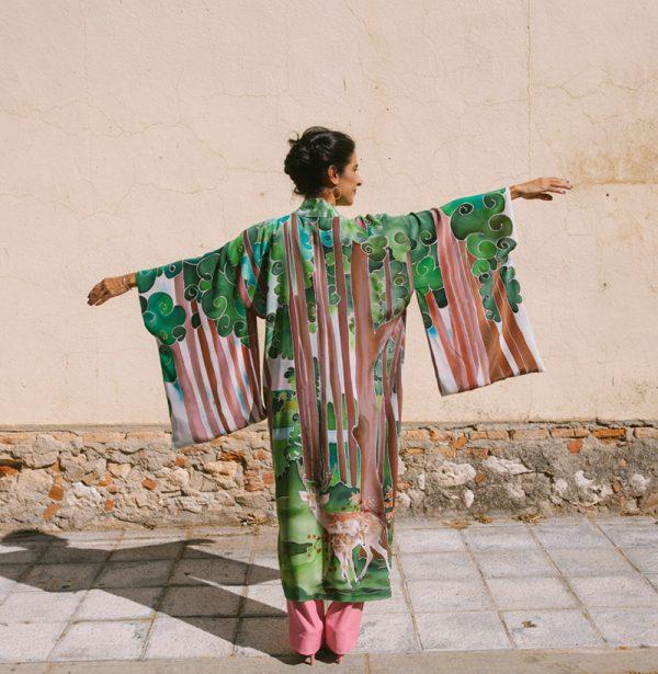 genoveva hita- creadora textil - silk kimono tierra