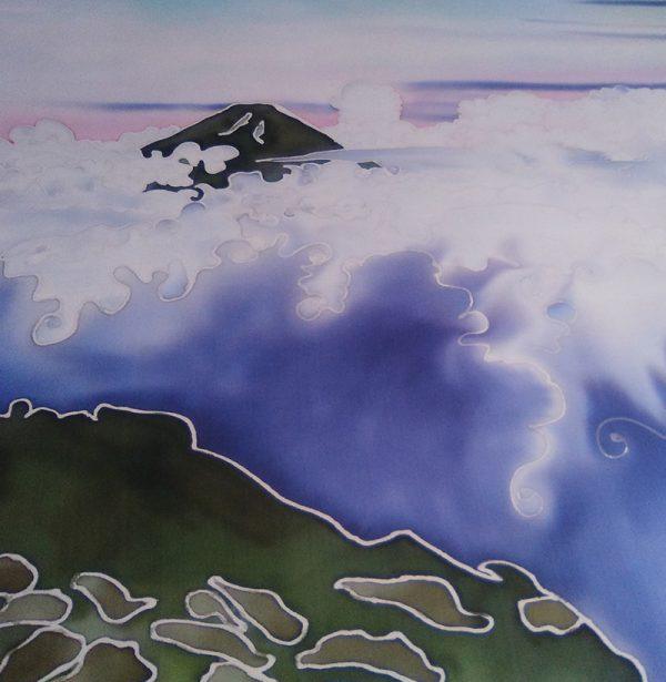 genoveva hita- creadora textil - cuadro seda - mar de nubes