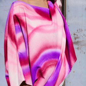CAMISA ACUARELA FUCSIA// Kimonos
