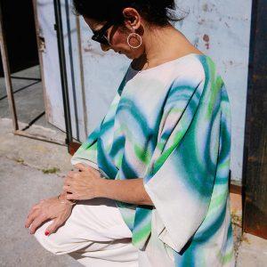CAMISA ACUARELA VERDE // Kimonos